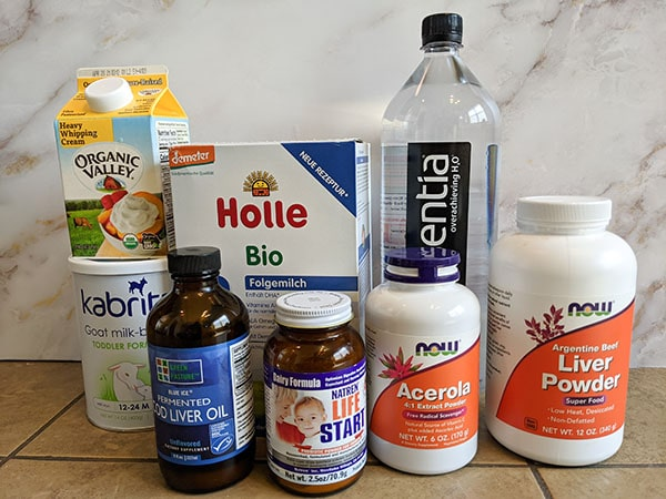 ingredients for homemade formula