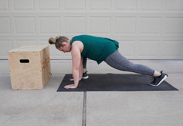 woman stretching after pregnancy