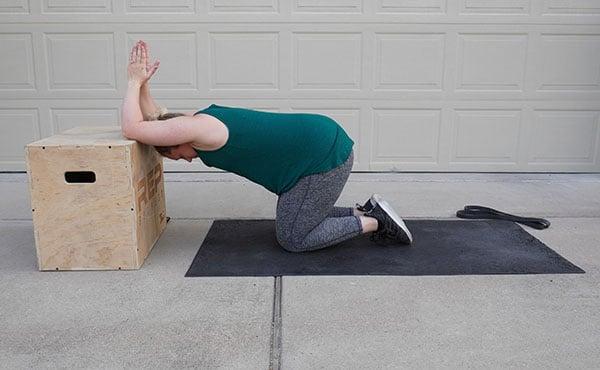 back stretch for postpartum women