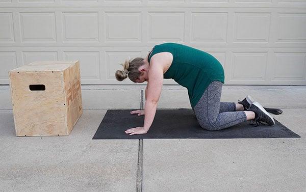 back stretch for postnatal women
