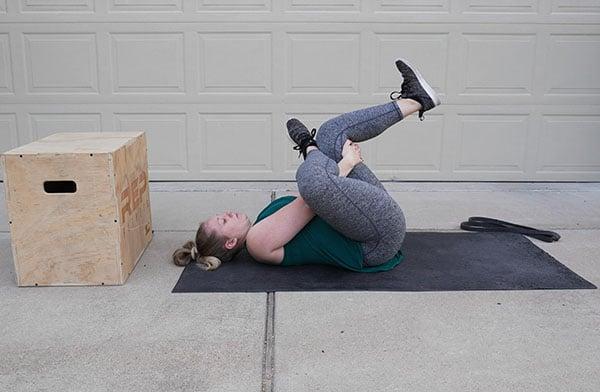 hamstring stretch for postnatal women