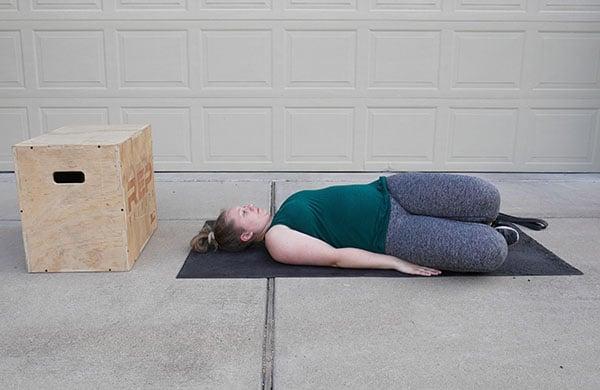 pregnant chest stretch