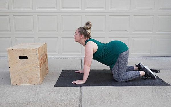 prenatal woman stretching