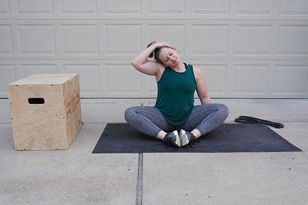 neck stretch for postpartum moms